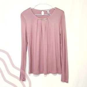 H&M Lilac Long Sleeve Top